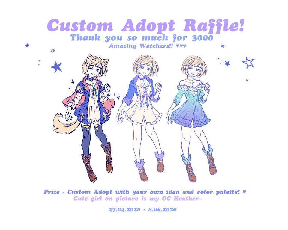 Open - Custom Sketch Adopt - WOW 3000 watchers!!