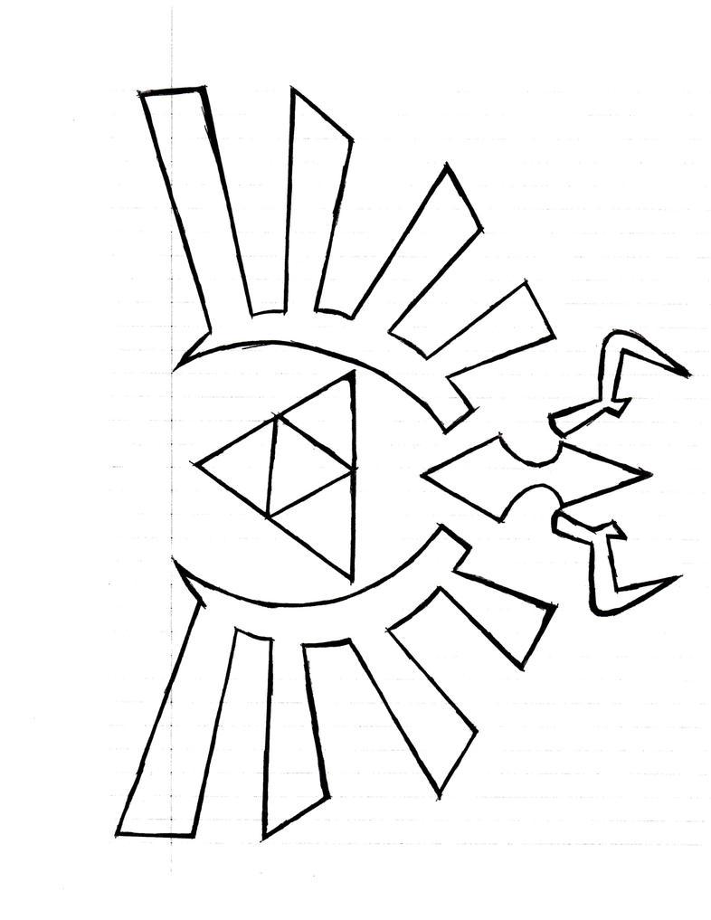 Zelda Symbol Pages Coloring Pages