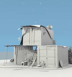 Render Week 1 - Makeshift Playground (Un-textured) by BrownBoxStudio