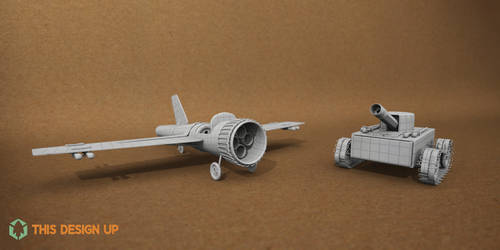 Week 7 - Paper Tanks (Preview) by BrownBoxStudio