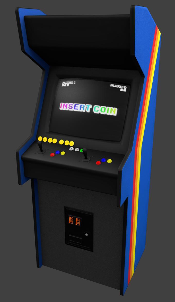3D Arcade Cabinet Textured by BrownBoxStudio