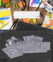 Title Card for Twitch - Desk Scene with Props by BrownBoxStudio