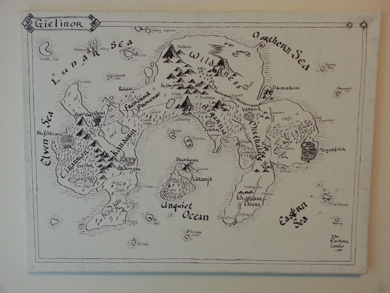 Map Of Gielinor By LilyHaaronArt Map Of Gielinor By LilyHaaronArt
