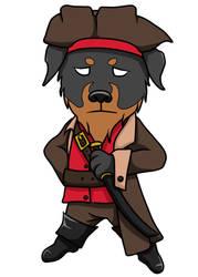Pirate Dog by CarusimaHikura