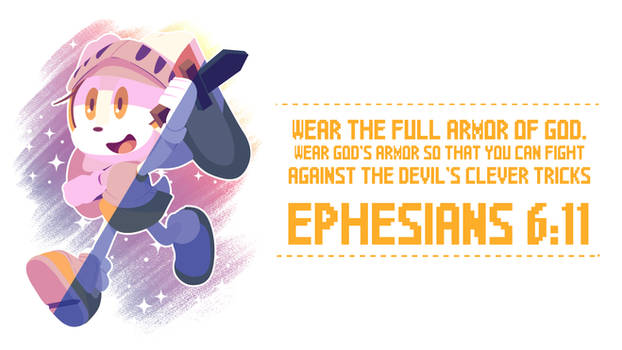 Cream the Rabbit Wallpaper - Ephesians 6:11