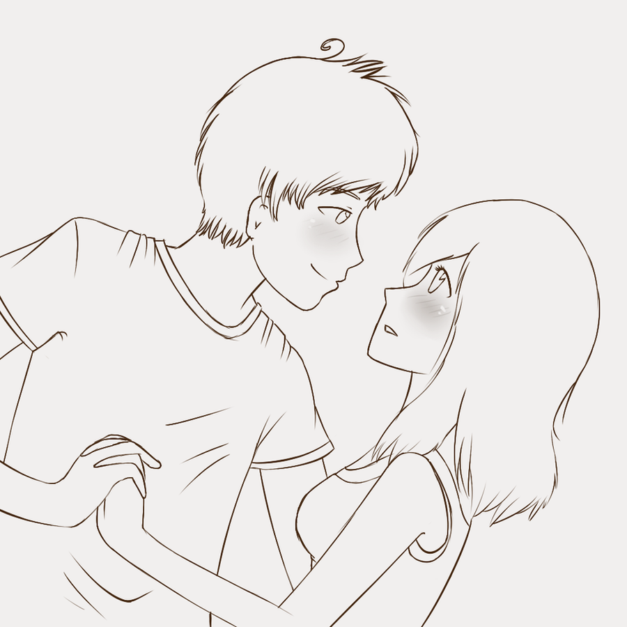 cute couple sketch by grjon on deviantart