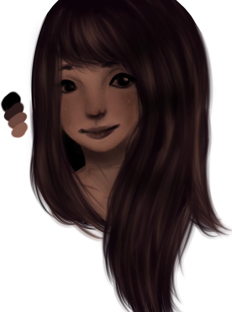 Girl doodle(+Random color pallet) by Zimoshi