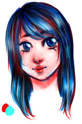 Girl_Colour Palette(Old drawing) by Zimoshi