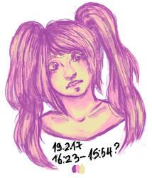 Girl doodle(please read description)