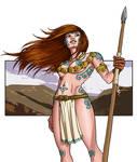 Celtic Warrioress- COLOR