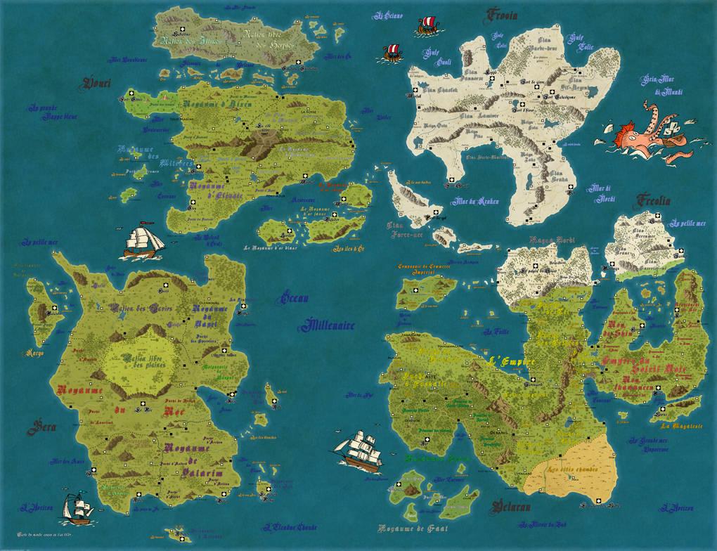 Carte Du Monde By Dowdidik On Deviantart