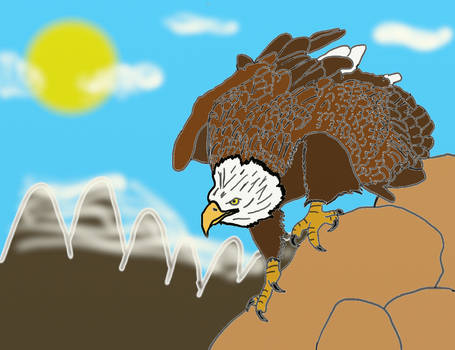 The eagle lurks