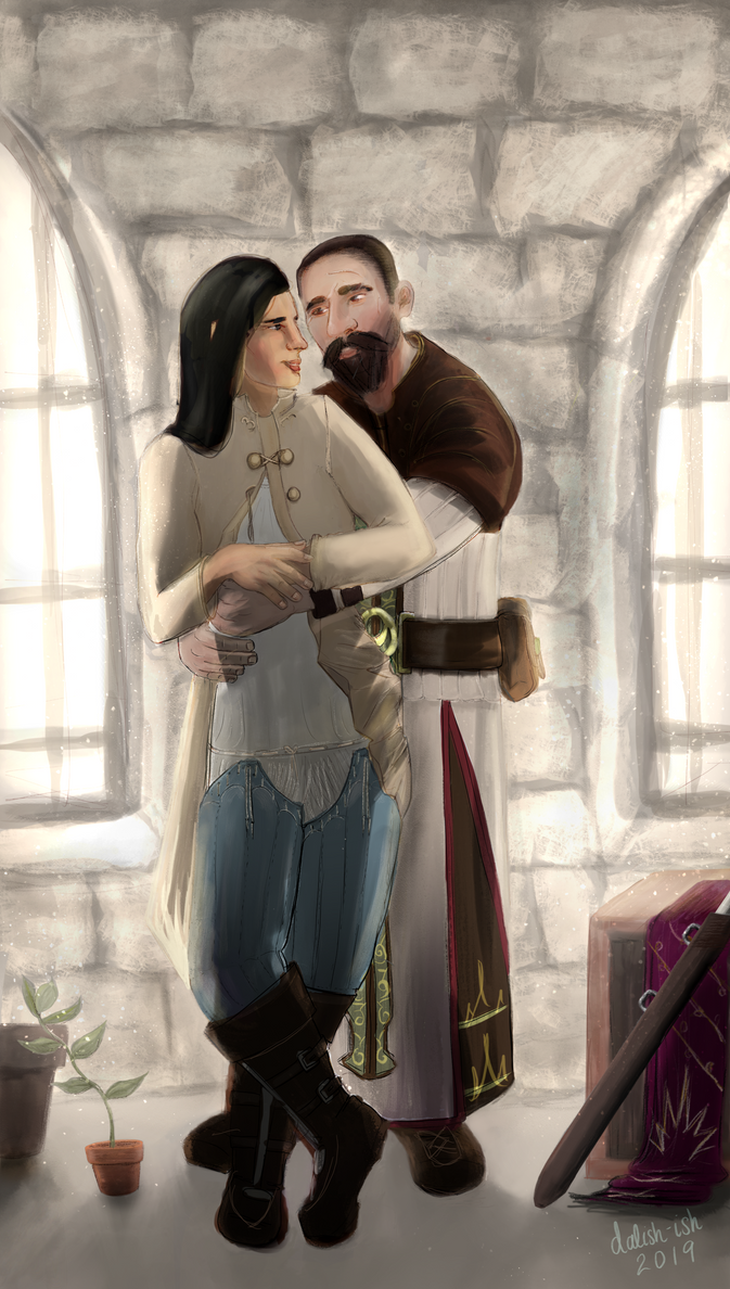 Lysette and Adan by dalish-ish