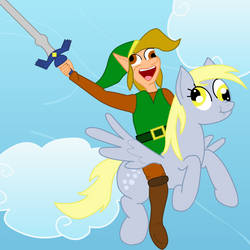 CDI Link and Derpy Hooves by EbenToons