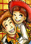 Woody and Jessie .ACEO.