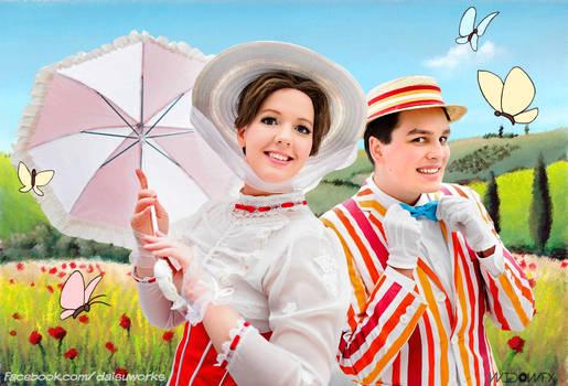 Mary and Bert make the sun shine bright