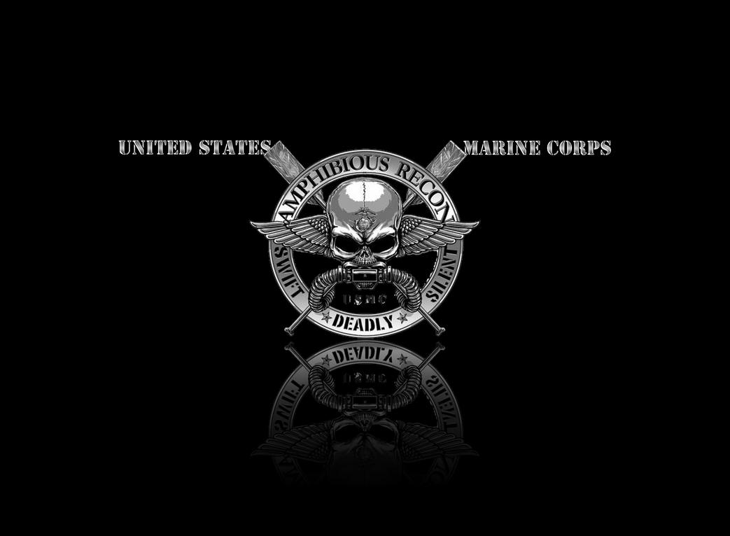 Usmc Sniper Logo Wallpaper USMC Recon Wall