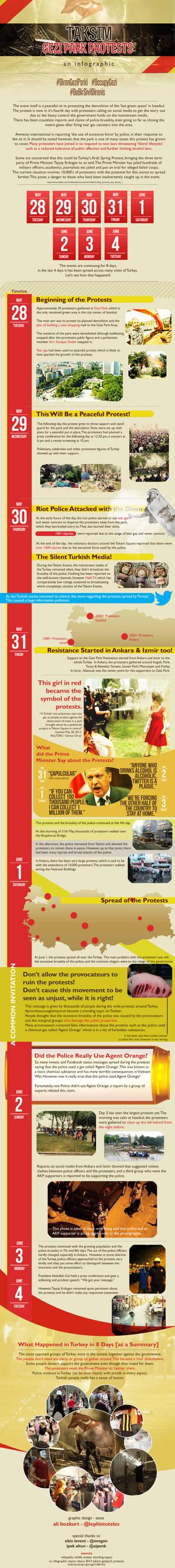Taksim Gezi Park Protests Infographic