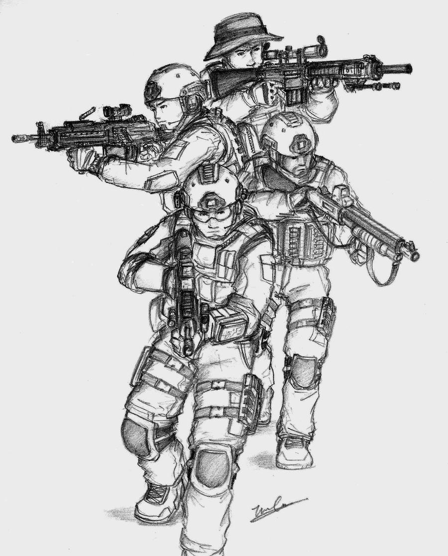 seal team six coloring pages - photo#22
