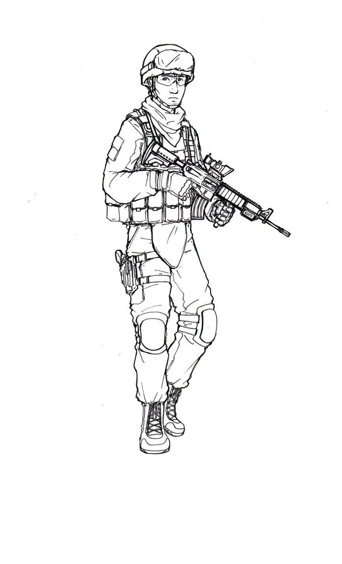 Us marine by thomchen114 on deviantart for Navy sailor coloring pages