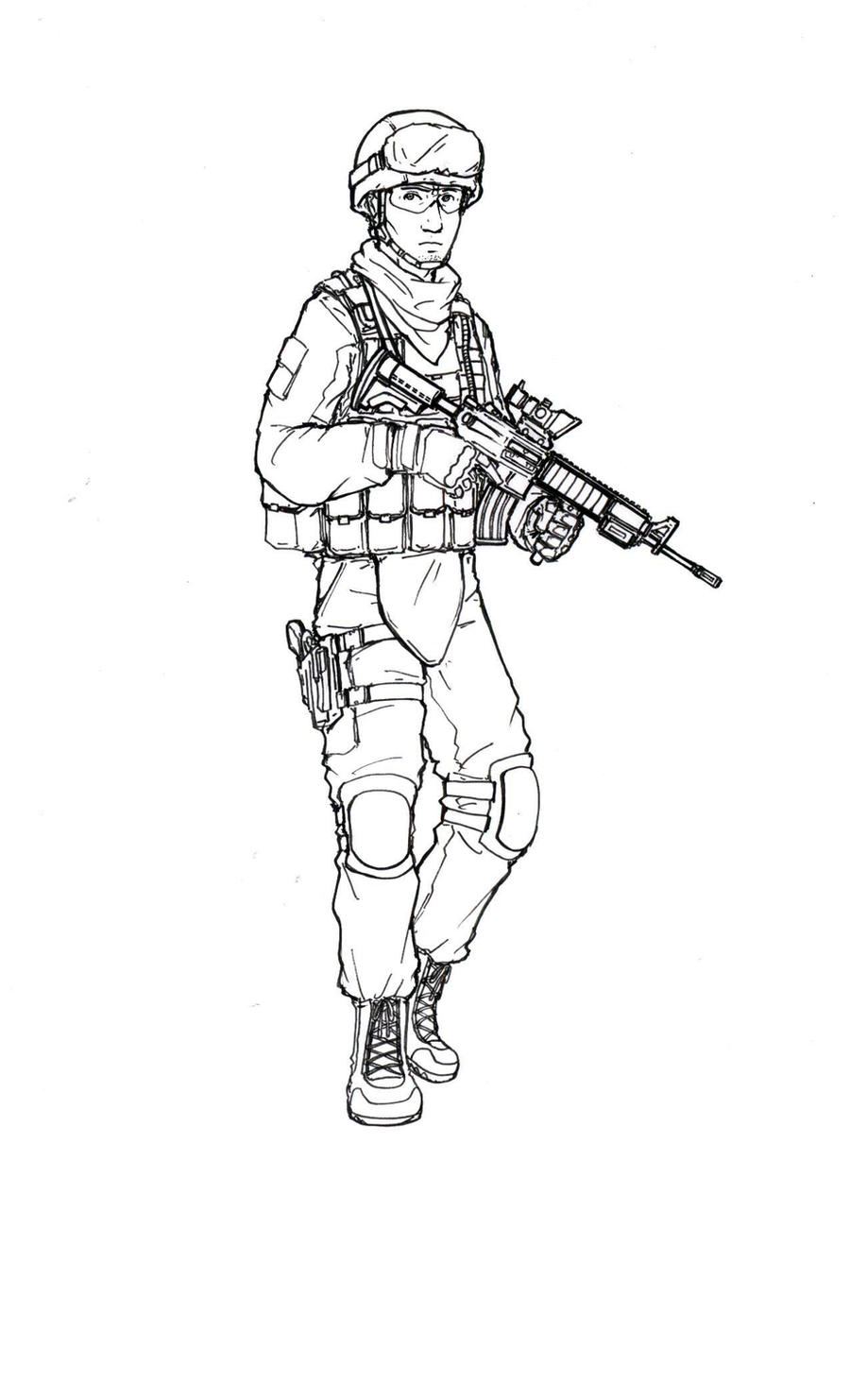 marines coloring pages - us marine by thomchen114 on deviantart