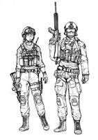 BF4 USMC Assault class (line art) by ThomChen114