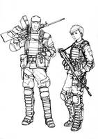BF4 PLA Support class (line art) by ThomChen114
