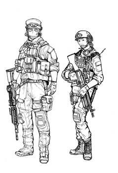 BF4 USMC Support class (line art)