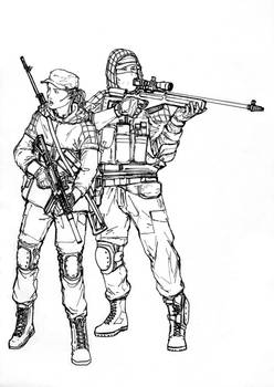 BF4 RU Recon class (line art)