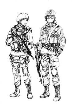 BF4 RU Assault class (line art)