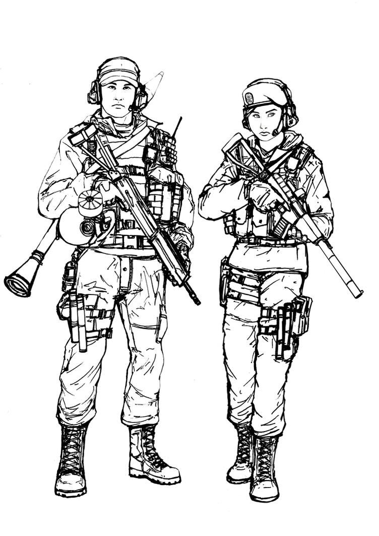 Line Drawing Vs Value Drawing : Bf ru engineer class line art by thomchen on deviantart