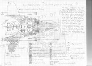 Vonian Dart fighter schematic