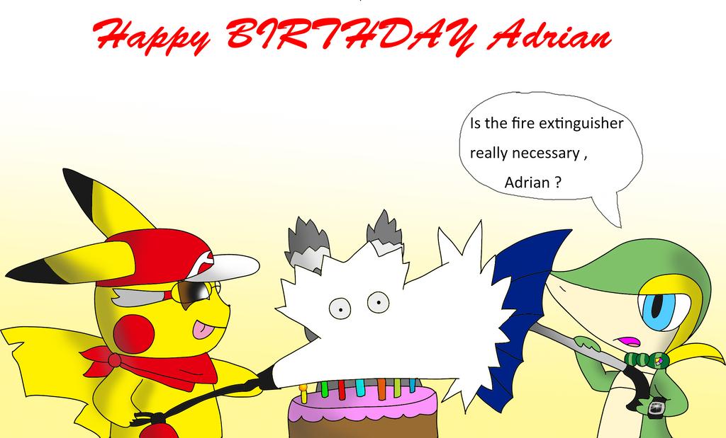 Happy Birthday Adrian ! by lSnivyl