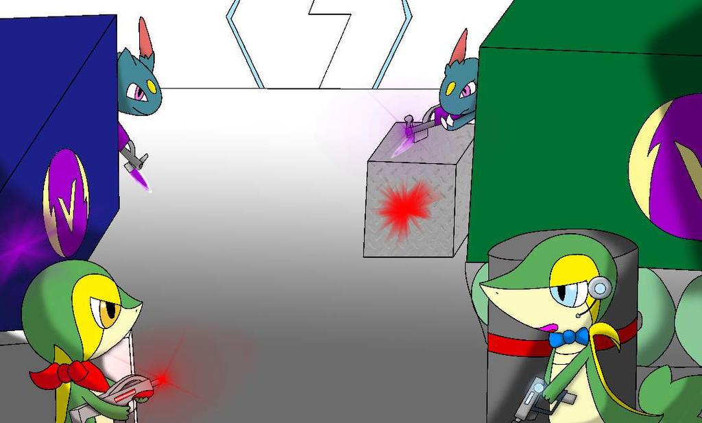 Team Vortex strong hold gun fight by lSnivyl