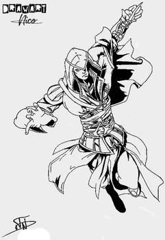 Ezio - Assassin's Creed B/W