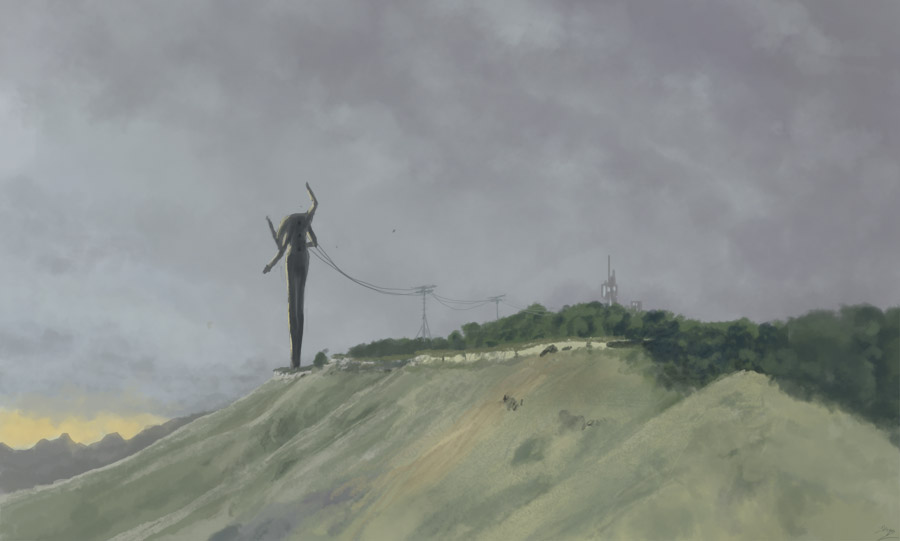 Colour Study - Overcast Countryside Revised by ZacharyHogan