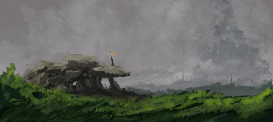 Distant Misty Speedpaint by ZacharyHogan