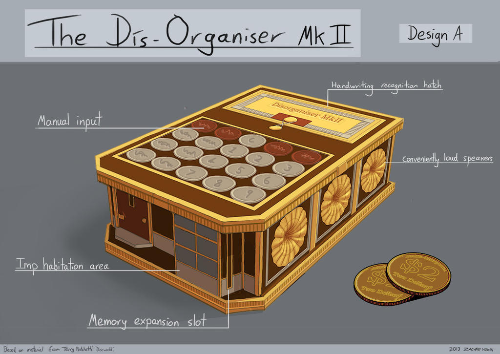 Discworld Project - The Dis-Organiser (design A) by ZacharyHogan
