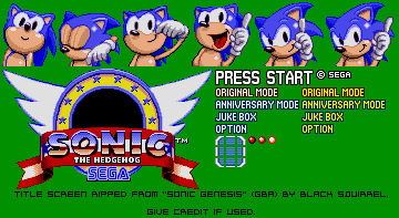 Game Boy Advance Sonic The Hedgehog Genesis Ti By Modelsandsprites On Deviantart