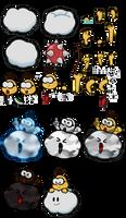 3DS - Paper Mario Sticker Star - Lakitu
