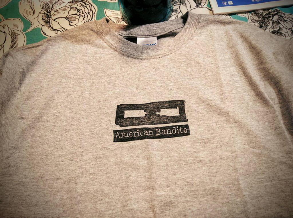 American Bandito block print T-shirt design by tmray on ...