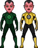 Green Lantern of Sector 1417-Sinestro-Yellow Corps by ElephantscagedDC
