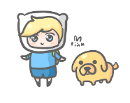 finn and jake by pinkbunnii