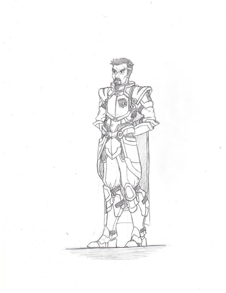 Sergeant Major - Character Sketch by Boss-Verdan
