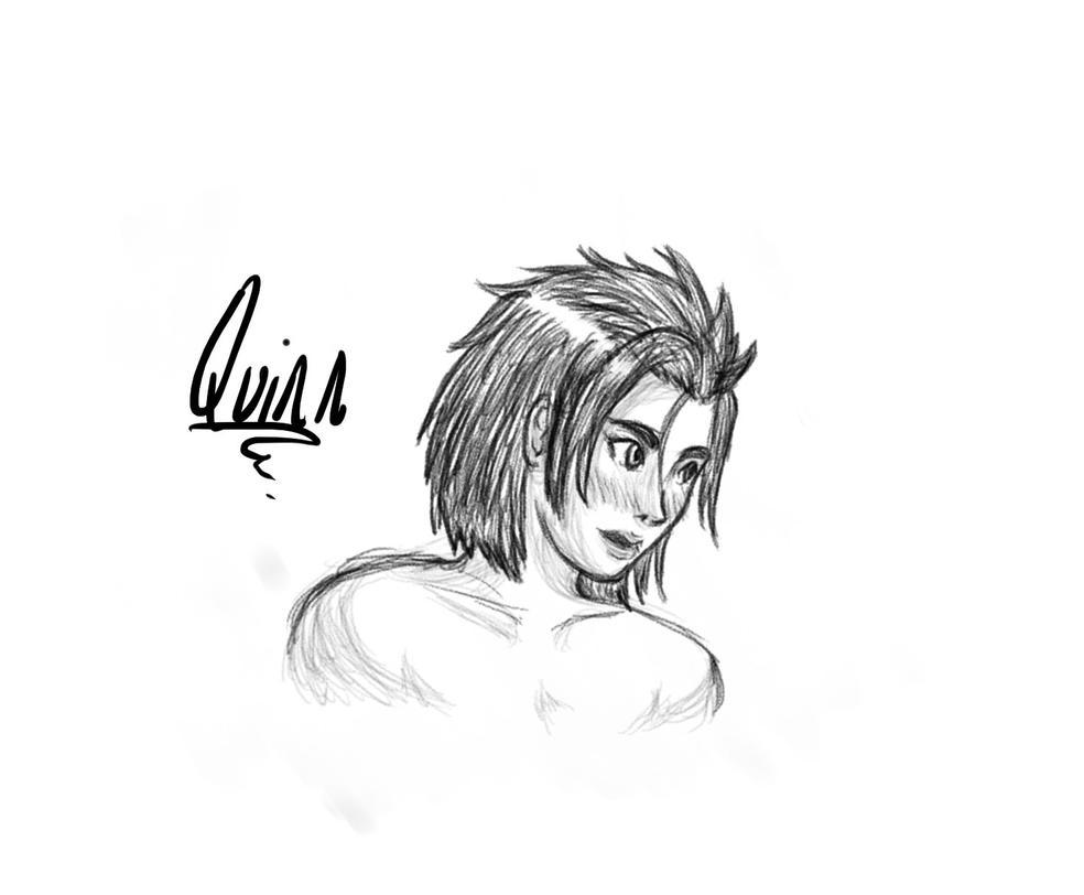 Quinn Portrait Sketch by Boss-Verdan