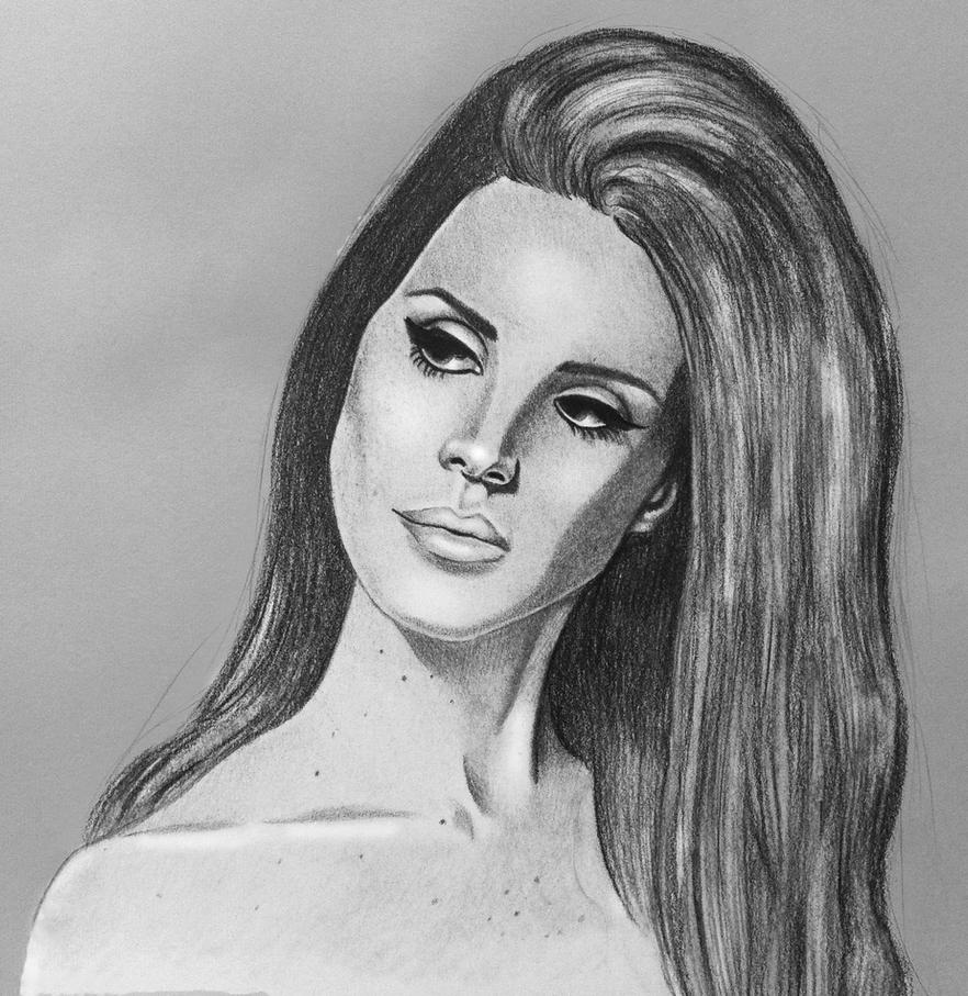 Lana Del Rey Drawing by BluePencils on DeviantArt