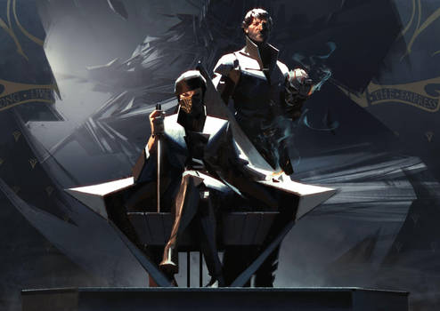 Dishonored 2 - Emily on throne