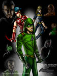 Green Arrow: Heroes and Villains Redesign by TheDJArt