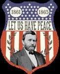 Ulysses S. Grant Election Badge