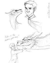 Chideon|Hobbit AU sketches